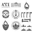 set vintage logotypes elements labels vector image vector image