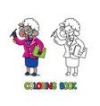 sheep scientist coloring book animal alphabet s vector image vector image