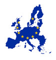 silhouette country borders map of european union vector image