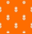 smiling pineapple pattern seamless vector image vector image