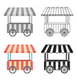 snack cart icon in cartoon style isolated on white vector image vector image