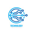 technology - logo template for corporate vector image