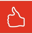 The thumb up icon Like and yes approve symbol vector image