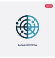 two color radar detection icon from people skills vector image