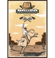 Vintage Rodeo Show Poster vector image vector image