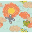vintage sunflower background vector image