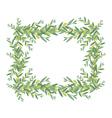 Watercolor olive wreath vector image vector image