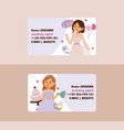 wedding business card bridesmaid woman vector image