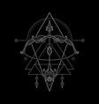 zodiac sagitarius geometri style vector image