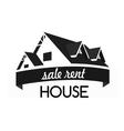 House logo design template Realty theme icon vector image