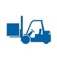 Forklift truck monochrome icon vector image