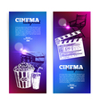 Set of movie cinema banners vector image