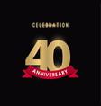 40 year anniversary celebration template design