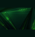 abstract 3d background with green paper layers vector image