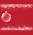 Abstract background with red christmas balls