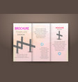 abstract business tri fold leaflet flyer design vector image vector image