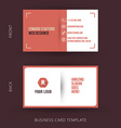 abstract creative business card template Eps10 vector image vector image