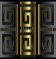 abstract luxury 3d greek key meander border vector image vector image