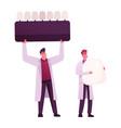 aesthetic stomatology concept tiny male doctors
