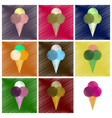 assembly flat shading style icons ice cream balls vector image vector image
