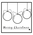 Black and White Christmas ornaments vector image vector image
