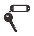 Blank tag and key vector image vector image