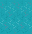 blue seamless pattern with leaves vector image vector image