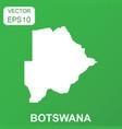 botswana map icon business concept botswana vector image vector image