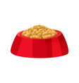 bowl red color and food vector image