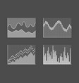 charts collection poster grey vector image vector image