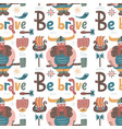 childish seamless pattern with vikings and vector image
