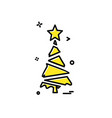 christmas tree icon design vector image vector image