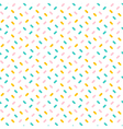 Colorful confetti seamless pattern background vector image vector image
