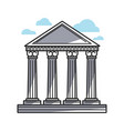 columns of historic temple vector image vector image