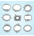 Comic speech bubbles set vintage halftone print vector image vector image