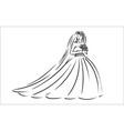 concept of bride icon vector image vector image