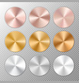 conical metal gradients vector image vector image
