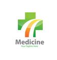 cross medicine logo designs vector image vector image