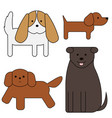 dogs simple art geometric vector image vector image