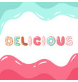 donut font on white background vector image vector image