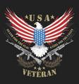eagle usa flag and machine gun artwork vector image vector image