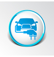 Electric car plug icon eco fuel vector image vector image