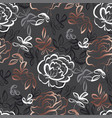 elegant hand drawn rose floral seamless pattern vector image vector image