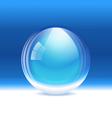 Empty transparent snow globe vector image