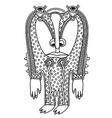 fantasy monster personage vector image