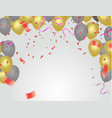 festive balloons and confetti birthday card vector image vector image