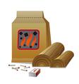 firewood vector image