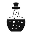 flask potion icon simple style vector image vector image