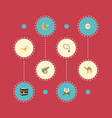 flat icons holy book mecca bead and other vector image vector image