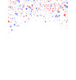flying red blue white star sparkles on white vector image